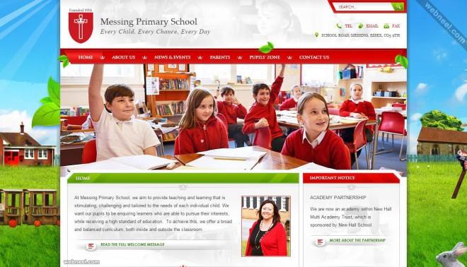 وب سایت مدرسه